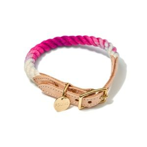 Found my animal pink ombré rope pet collar size M